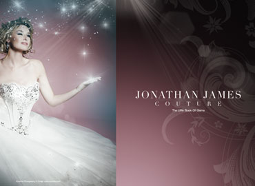 Photography and design of Jonathan James Couture wedding dress collection